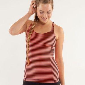 Lululemon Free to Be Tank Top Shirt Blue Stripe